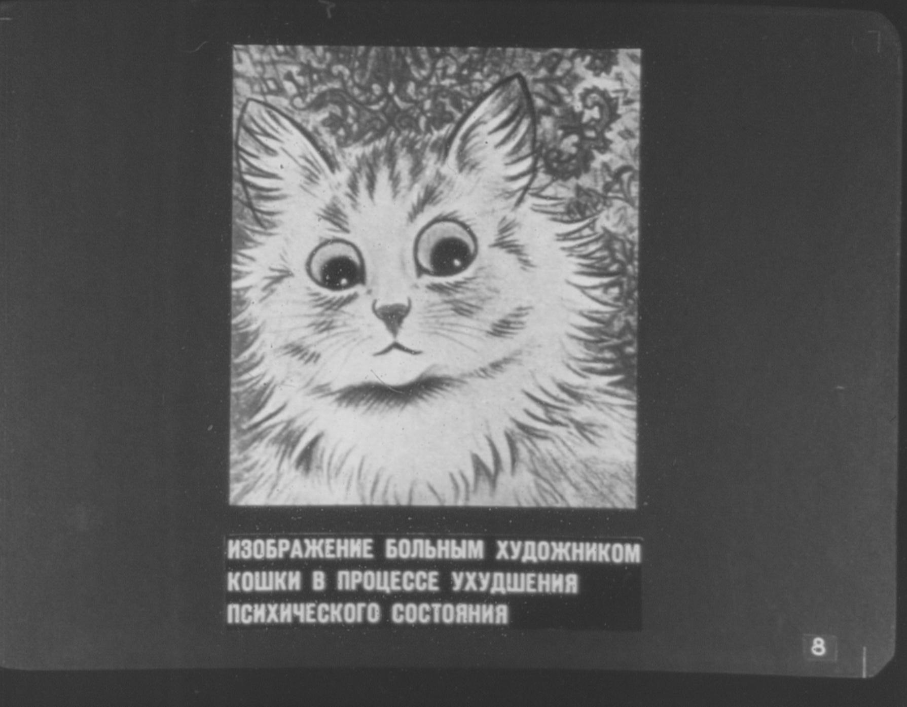 Изображение больным художником кошки в процессе ухудшения психического состояния